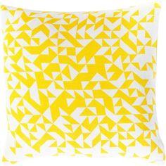 Surya Teori Throw Pillow Yellow, Neutral   Modern Pillow by Surya at…