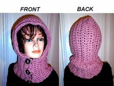 HOW TO CROCHET A HOODIE, BUTTON UP Hood, diy button loops, quick beginner easy project. - YouTube