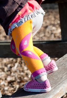 Cute colorful tights from Luna Leggings - and each pair you buy, one gets donated to Project Night Night.