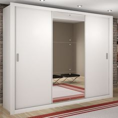 Guarda Roupa Casal com Espelho 3 P