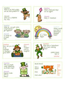 8 St. Patrick's Day Jokes.  Same jokes as happy home fairy.