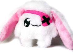 Kawaii Plüsch Hase Rabbit weiss pink Handarbeit Unikat von Fluse 123, http://www.amazon.de/dp/B00G38S0SM/ref=cm_sw_r_pi_dp_ZKLZtb1YTSG6W