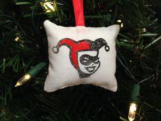 Harley Quinn Pillow Christmas Ornament Super Hero Comic Book DC Batman Joker Bruce Wayne Puddin' FREE SHIPPING! by HollyAndHerHobbies on Etsy
