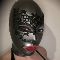 Kinky Kitty Marbled Latex Hood | Etsy Latex Hood, Black Hood, Lace Mask, Red Candy, Kinky, Light Colors, Hoods, Halloween Face Makeup, Handmade Items
