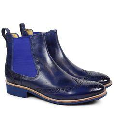 Amelie 5 Chelsea Boots für Damen aus Leder in Blau