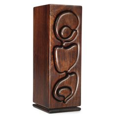 """Arthur """"Espenet"""" Carpenter JEWELRY BOX incised Espenet 7241 a superb example in rosewood with three bandsaw-carved drawers 17 7/8 x 6 1/4 x 6 5/8 in. (45.4 x 15.9 x 16.8 cm) ca. 1970"""
