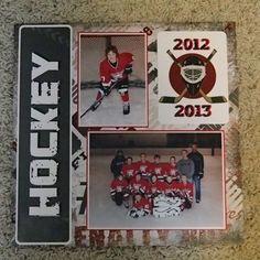 hockey scrapbooking layouts - Google Search