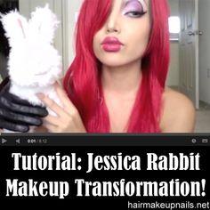 Jessica Rabbit Make-up Transformation