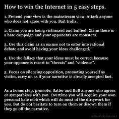 How to win the internet in 5 easy steps. This is a pattern I see repeated over and over again.