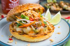 Sear up some savory Pad Thai Shrimp Burgers for a perfectly seasoned meal!