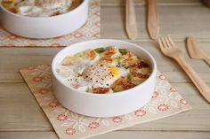 Cazuelas de huevo con mozzarella (para dos) - MisThermorecetas