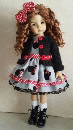 Handmade Minnie Mouse Set made for Effner Little darling dolls