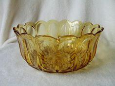 Vintage Carnival  Amber Glass Bowl by TreasureTroveKY on Etsy