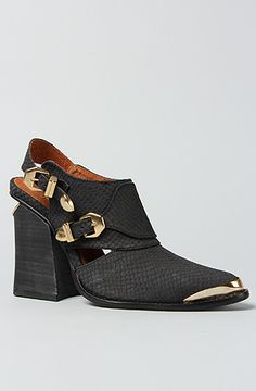 The Alla Boot in Black Snake by Jeffrey Campbell. I like these a lot but can't decide it they're ugly or not.