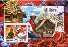 Francobolli . Lotta contro la malaria - Malaria on Stamps - Sierra Leone 2015