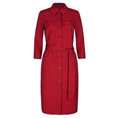 (ウィンザー ロンドン) レディース トップス ワンピース Winser London Cotton Poplin Shirt Dress 並行輸入品  新品【取り寄せ商品のため、お届けまでに2週間前後かかります。】 表示サイズ表はすべて【参考サイズ】です。ご不明点はお問合せ下さい。 カラー:Red