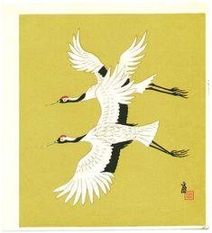 Tokuriki Tomikichiro: Cranes - Artelino