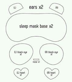 Diy sleep panda mask patterns