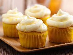Lemon Shandy Cupcakes made with  Betty Crocker® SuperMoist® yellow cake mix, hefeweizen wheat beer, and lemon juice & peel.