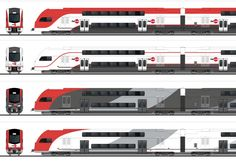 Californian passenger operator Caltrain plans to purchase electric KISS trains from Stadler Rail. These will replace diesel-loco hauled trains. The new rolling stock will enter service after the Pe… Rail Transport, Public Transport, Electric Locomotive, Steam Locomotive, Train Drawing, High Speed Rail, Airplane Design, Concept Art World, Ho Scale Trains