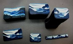 polymer clay landscapes | Simple Inspirations by Sandy: A landscape cane - week 7 of canes