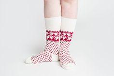 X'mas socks! Heart merino wool socks white by Jaana Huhtanen design Merino Wool Socks, Heart, Design, Fashion, Moda, Fashion Styles, Fashion Illustrations, Hearts