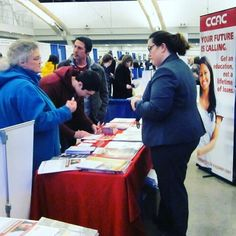 A big thank you to everyone who came by the #CCAC table at the National College Fair!