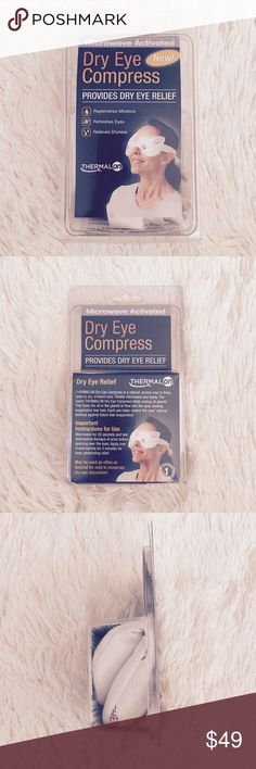 Dry Eye Compress  Brand new and never used! Replenishes moisture,  refreshes eyes, relieves dryness, naturally hydrating and washable and reusable! Thermalon Accessories Glasses
