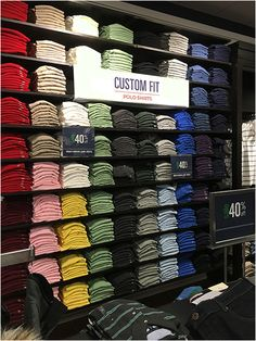 Polo Custom Fit Shirts Overall Clothing Store Interior, Boutique Clothing, Beauty Supply Store, Color Lenses, Why Do People, Interactive Design, Workout Shirts, Typography Design, I Shop