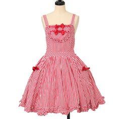 ♡ BABY THE STARS SHINE BRIGHT ♡ Gingham jumper skirt http://www.wunderwelt.jp/products/detail12276.html ☆ ·.. · ° ☆ How to order ☆ ·.. · ° ☆ http://www.wunderwelt.jp/user_data/shoppingguide-eng ☆ ·.. · ☆ Japanese Vintage Lolita clothing shop Wunderwelt ☆ ·.. · ☆