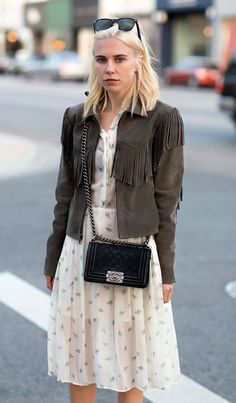Grey Fringe Jacket-Bcouture Blog