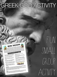 This fun Greek Gods Small Group Activity helps students remember, practice and apply their knowledge of 11 Greek gods and goddess by presenting scenarios to the class. Gods and Goddess Covered Zeus Hera Apollo Artemis Athena Dionysus Poseidon Aphrodite Demeter Hermes Hades