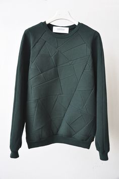 style 3: front patchwork crew neck sweat