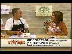 Pintura adesivada flores e maçãs com Luis Moreira - Vitrine do Artesanato na TV
