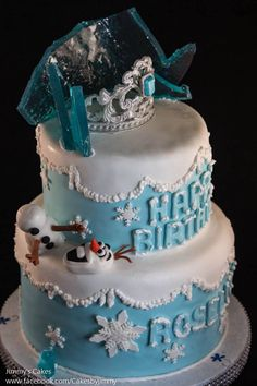 Disney Frozen Cake made by Jimmy's Cakes Follow in FB at www.facebook.com/cakesbyjimmy