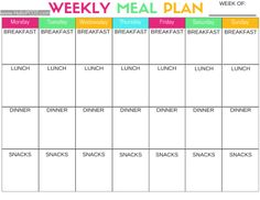 HELLO PCOS   Free PCOS Weekly Meal Plan Printable. Use this free printable to help you with your PCOS diet