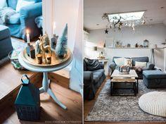Teppich Velvet im Vintage Stil kommt hier besonders gut zur Geltung! Sehr schöne Einrichtung - weihnachtlich und gemütlich!