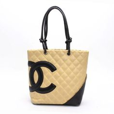 CHANEL Medium Tote Cambon Shoulder bags Beige Leather A25167