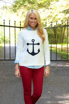 Anchored To You Sweater at shopjulianas.com!