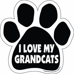 Imagine This Paw Car Magnet, I Love My Grandcats, 5-1/2-Inch by 5-1/2-Inch *** You can get additional details at the image link.