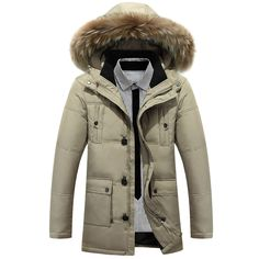 cc36cef4deb 2017 Winter Big Genuine Fur Hood Duck Down Jackets Men Warm High Quality  Male Casual Winter Outerwer Parkas Thickening Brand