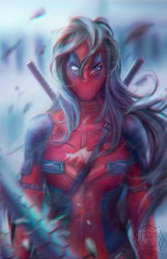 #Deadpool #Fan #Art. (Deadpool Women) By: Furituri. (THE * 5 * STÅR * ÅWARD * OF: * AW YEAH, IT'S MAJOR ÅWESOMENESS!!!™) ÅÅÅ+