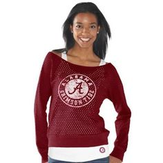 Alabama Crimson Tide Ladies Holy Sweatshirt Long Sleeve T-Shirt & Tank Top Set - Crimson