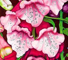 detail, Foxglove by Velda Newman | Art of the Quilt