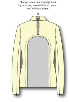 High Back Alteration. For people with limited mobility, this alteration allows a jacket to be easily removed while seated. Izzy Camilleri.