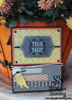 Trick or treat!  Fun Stampin' Up! Halloween card!