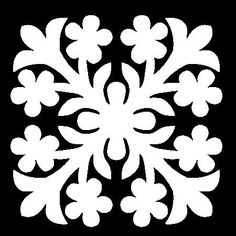 5x5 Hawaiian Quilt Square Stencil. Stencil can be used for art work, painting on walls or fabric. (hq5)
