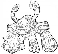 Coloriage skylanders giants sur : http://www.papa-blogueur.com/coloriages-skylanders-giants