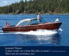 Lenny on wood boats.