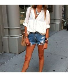 Stephanieunter is wearing: Shop Excess Baggage shirt, Omen Eye shorts.  Get The Look:  Rag & Bone/JEAN Boyfriend Shorts ($198)